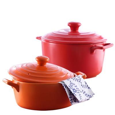 味老大 耐熱原味砂鍋彩陶鍋(WE2313)2L/3.5L雙鍋組