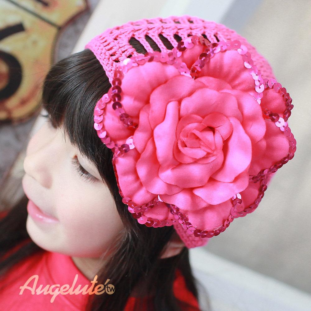 【baby童衣】女寶手工毛線帽嬰兒童帽子配件37335