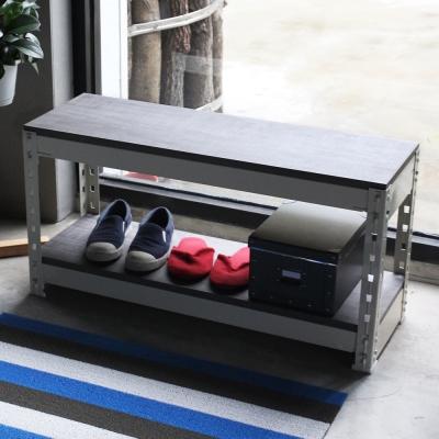 H&D 角鋼美學-工業風免鎖角鋼穿鞋櫃/收納櫃-2色