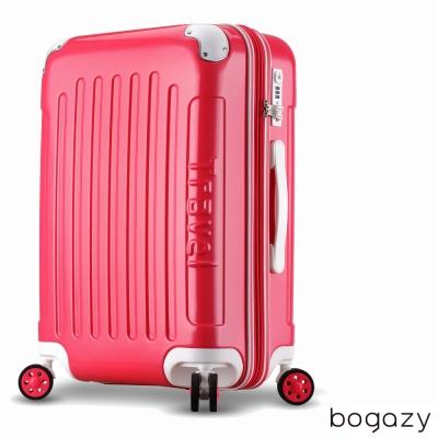 Bogazy蜜糖甜心 24吋PC可加大鏡面行李箱(亮麗紅)