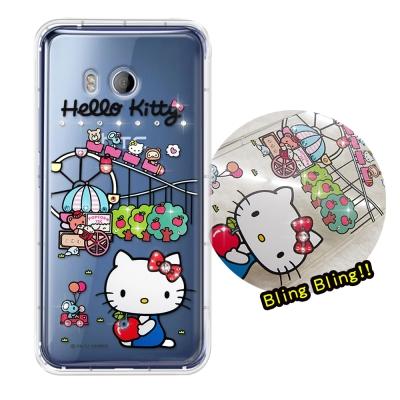 正版凱蒂貓 HTC U11 5.5吋 夢幻童話 彩鑽氣墊手機殼(遊樂園)