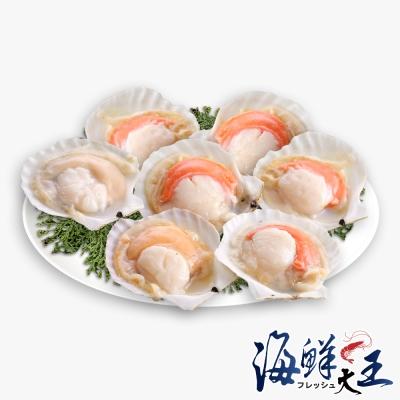 海鮮大王 極鮮生凍扇貝8包組(500g±10%/包)(6顆/包)