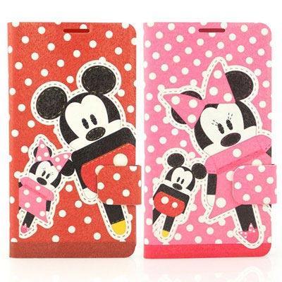 Disney HTC Desire 816 可愛玩偶米奇米妮時尚彩繪皮套