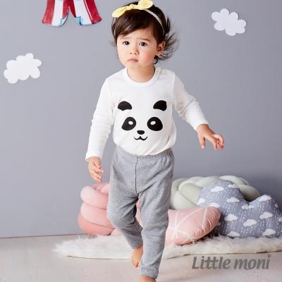 Little moni 純棉家居系列素面長褲 麻花灰