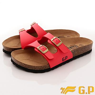 GP時尚涼拖-軟木拖鞋款-WSE82-40紅色(女段)