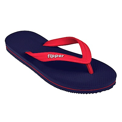 Fipper SLICK 天然橡膠拖鞋 NAVY-RED