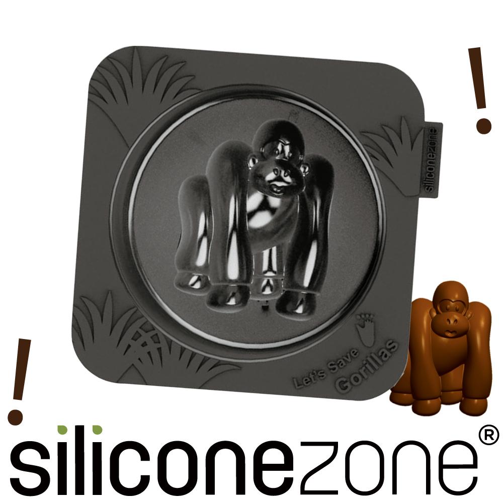 Siliconezone 施理康耐熱黑猩猩造型小蛋糕模