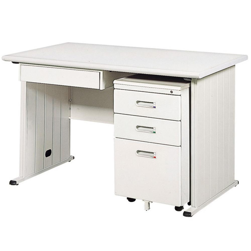 時尚屋中抽灰色辦公桌櫃組(120x70)