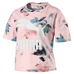 PUMA-女性流行系列經典Logo印花短袖T恤-珍