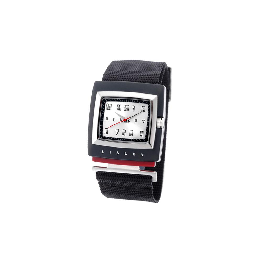 SISLEY 藝想空間特殊造型腕錶 (數字銀)