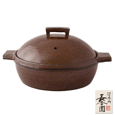 日本長谷園伊賀燒 小酒館蒸煮鍋(咖啡)
