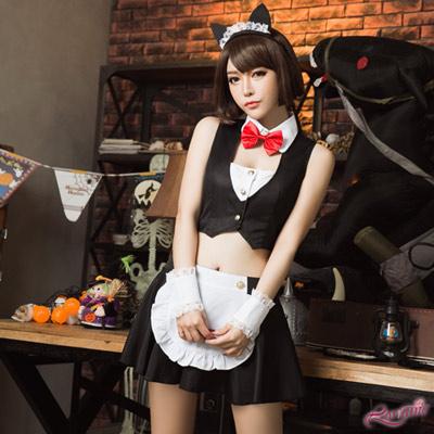 貓女服務生 角色扮演 小貓服務生角色扮演五件組(黑F) Lorraine