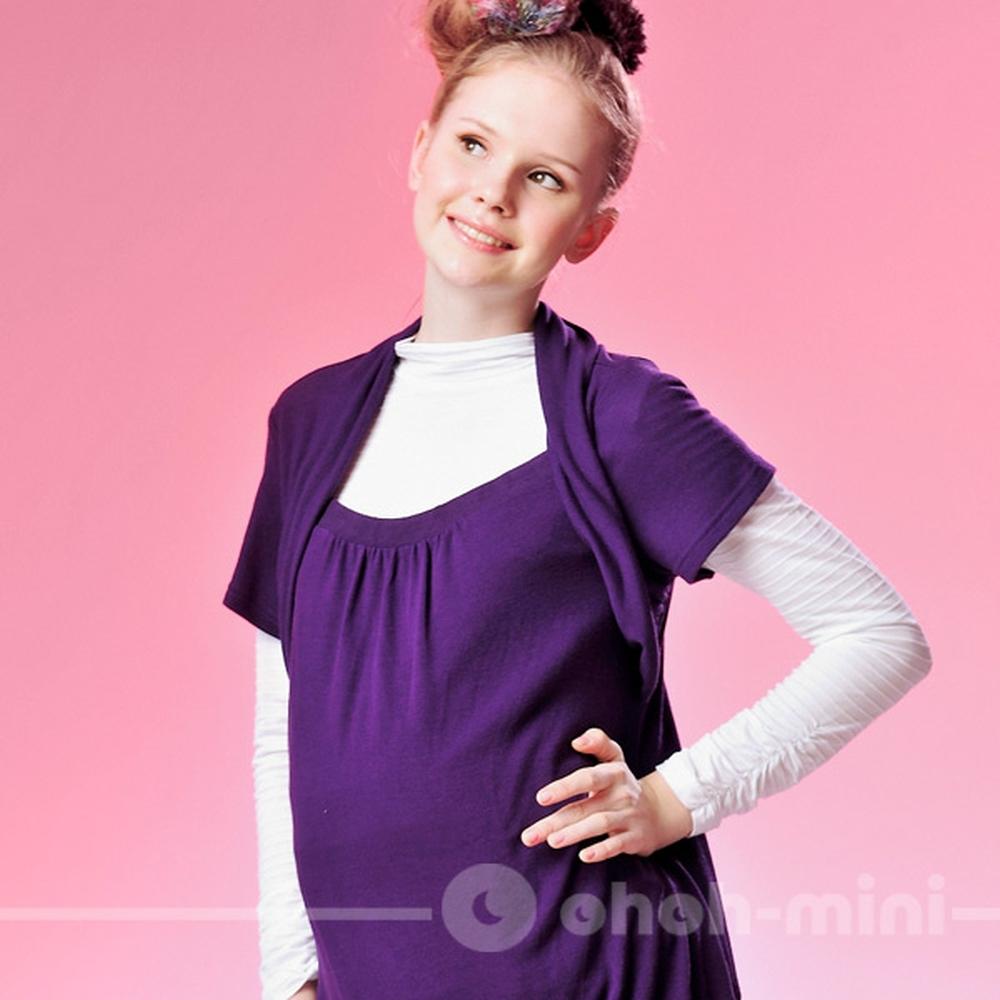 【ohoh-mini孕婦裝】層次穿搭必備短袖上衣 (二色)