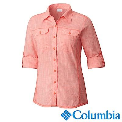 Columbia 哥倫比亞 女款-棉質長袖襯衫-粉紅 (UAR79900PK)