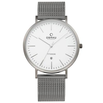 OBAKU 細膩美學日期時尚腕錶-V 215 GDTIMJ/ 41 mm