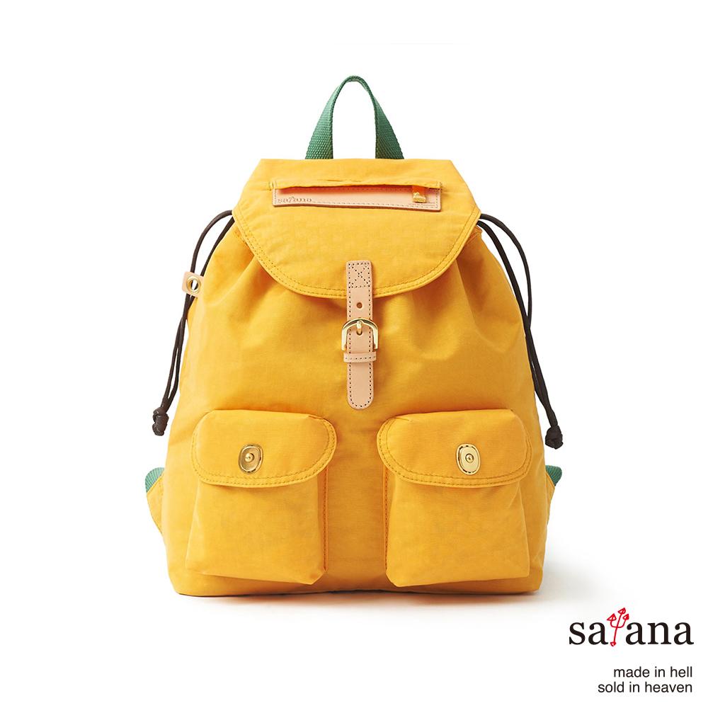satana - 小休閒束口後背包 - 琥珀黃