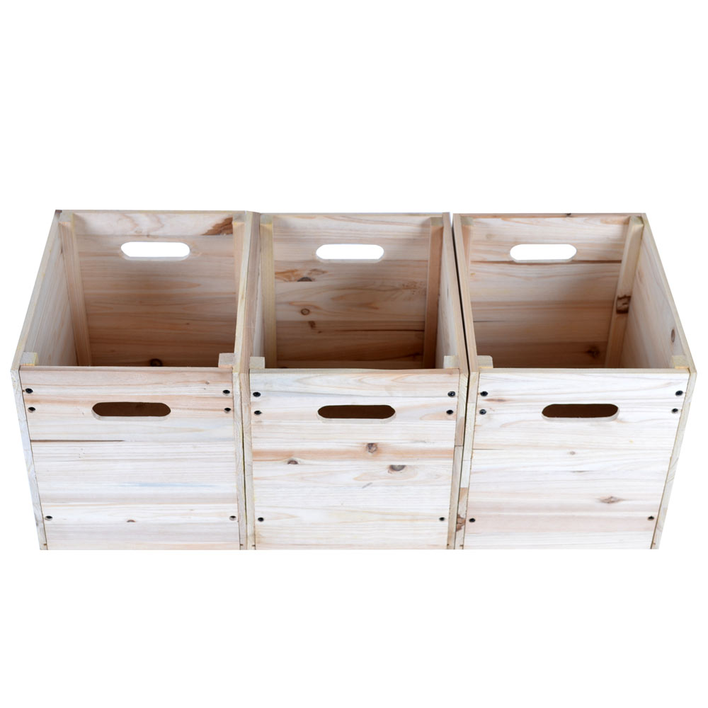 小工匠萬用原木收納箱(一組三入)