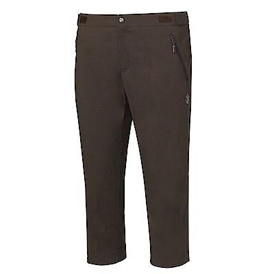 【Wildland 荒野】女彈性透氣抗UV七分褲深灰