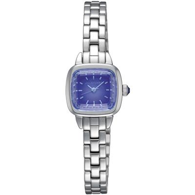 JILL STUART Ring Square優雅時尚方型腕錶-藍紫/19mm