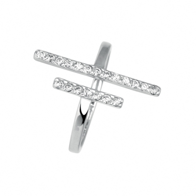 MURAT Paris米哈巴黎 極簡雙排鑽戒指