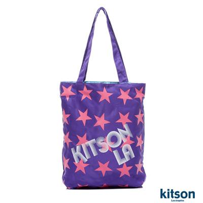 【kitson】星星LOGO購物袋PURPLE