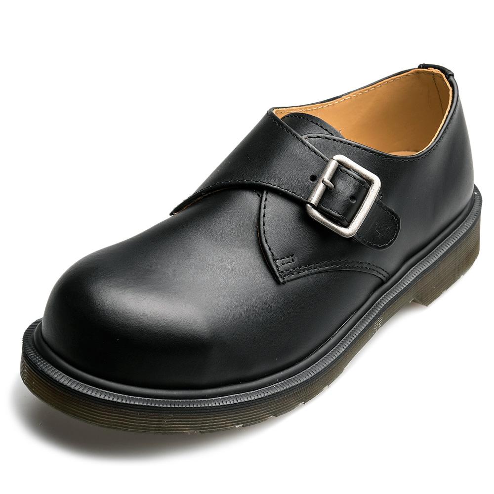 Dr.Martens-經典JOEY單扣鋼頭孟克鞋-男款-黑色