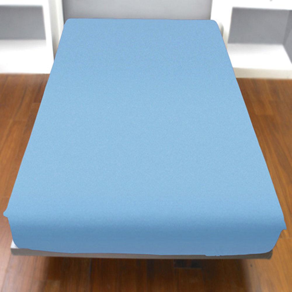 Yvonne Collection雙人純棉床包-灰藍