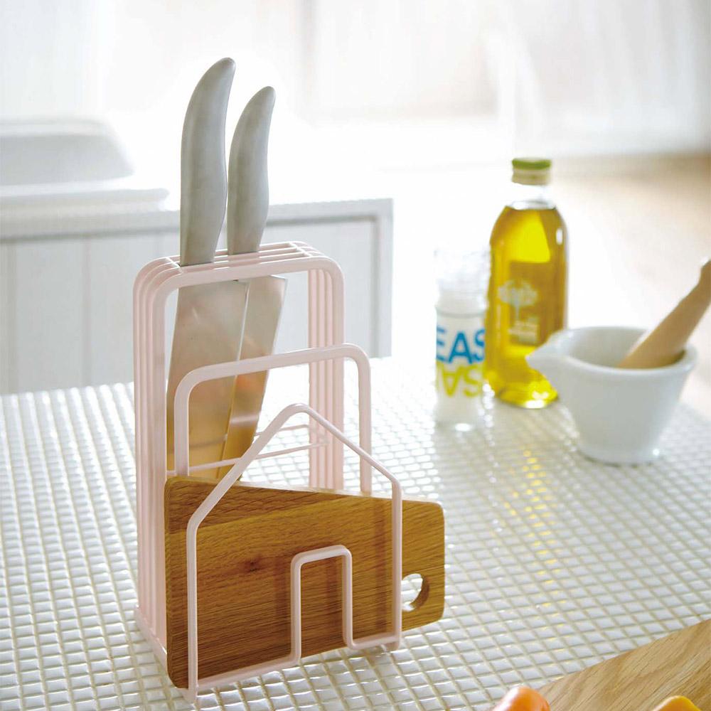 YAMAZAKI HOUSE刀具砧板架-粉刀架菜刀架砧板收納菜刀收納廚房收納