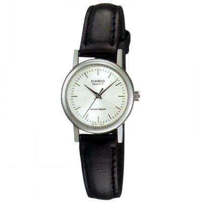 CASIO 時尚典雅淑女皮帶腕錶(LTP-1095E-7A)-丁字白面/23mm