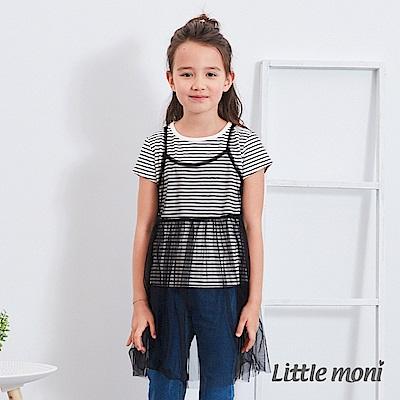 Little moni 網紗假兩件式上衣 (2色可選)