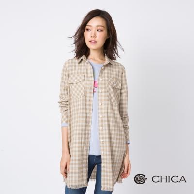 CHICA 西部靈魂格紋設計襯衫洋裝(2色)