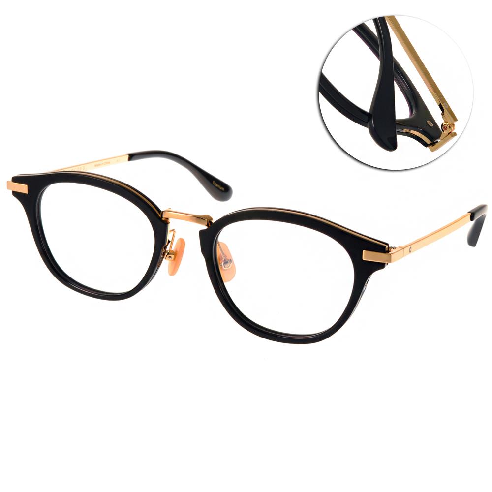 NINE ACCORD眼鏡 簡約鈦金屬系列/黑-金#UNION NASS C01