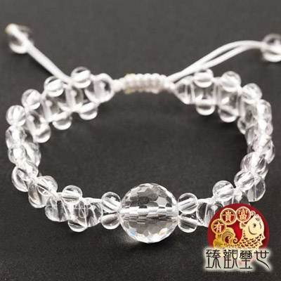 精品天然白水晶手鏈 /手鍊