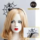 摩達客 萬聖節派對頭飾-黑色蜘蛛網創意造型髮箍