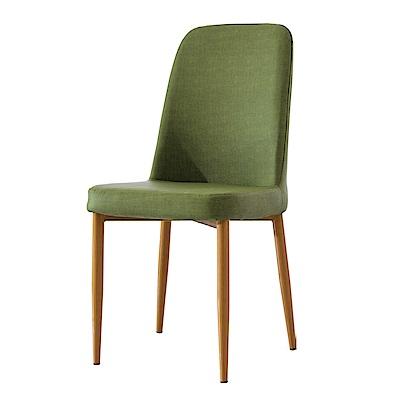 品家居 芙妮亞麻布實木造型餐椅(三色可選)-44x46x94cm免組