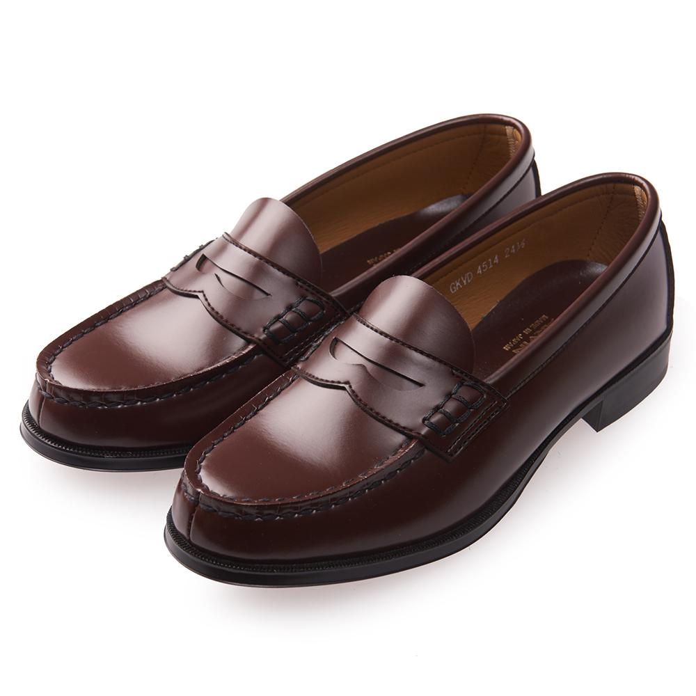 (女)日本 HARUTA 復古經典4514便士皮鞋-咖啡色 @ Y!購物