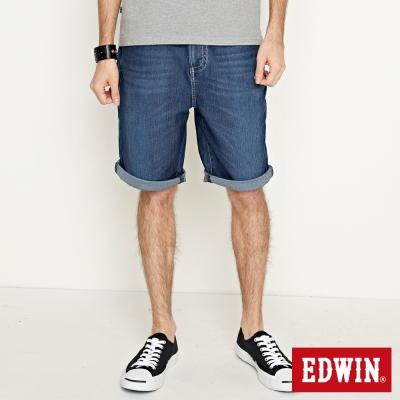 EDWIN 加大碼迦績褲JERSEY包織袋短褲-男-石洗綠