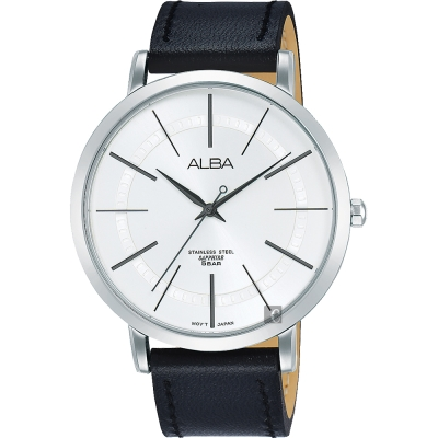 ALBA雅柏 東京情人時尚手錶(AH8479X1)-銀x黑/44mm