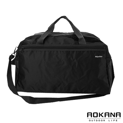 AOKANA奧卡納 MIT台灣製造 YKK拉鍊 輕量防潑水小型旅行袋(時尚黑)03-008