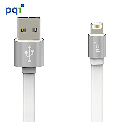 PQI i-Cable Metallic Apple認證 100cm 傳輸扁線