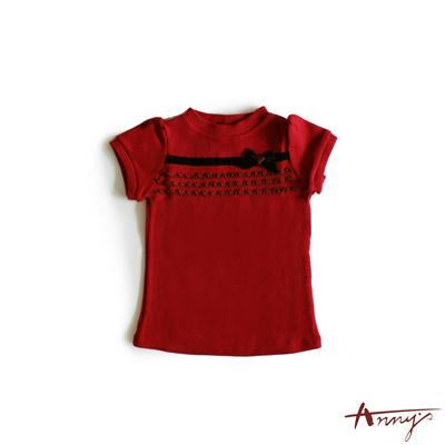 荷葉多層造型蝴蝶結上衣*3264紅