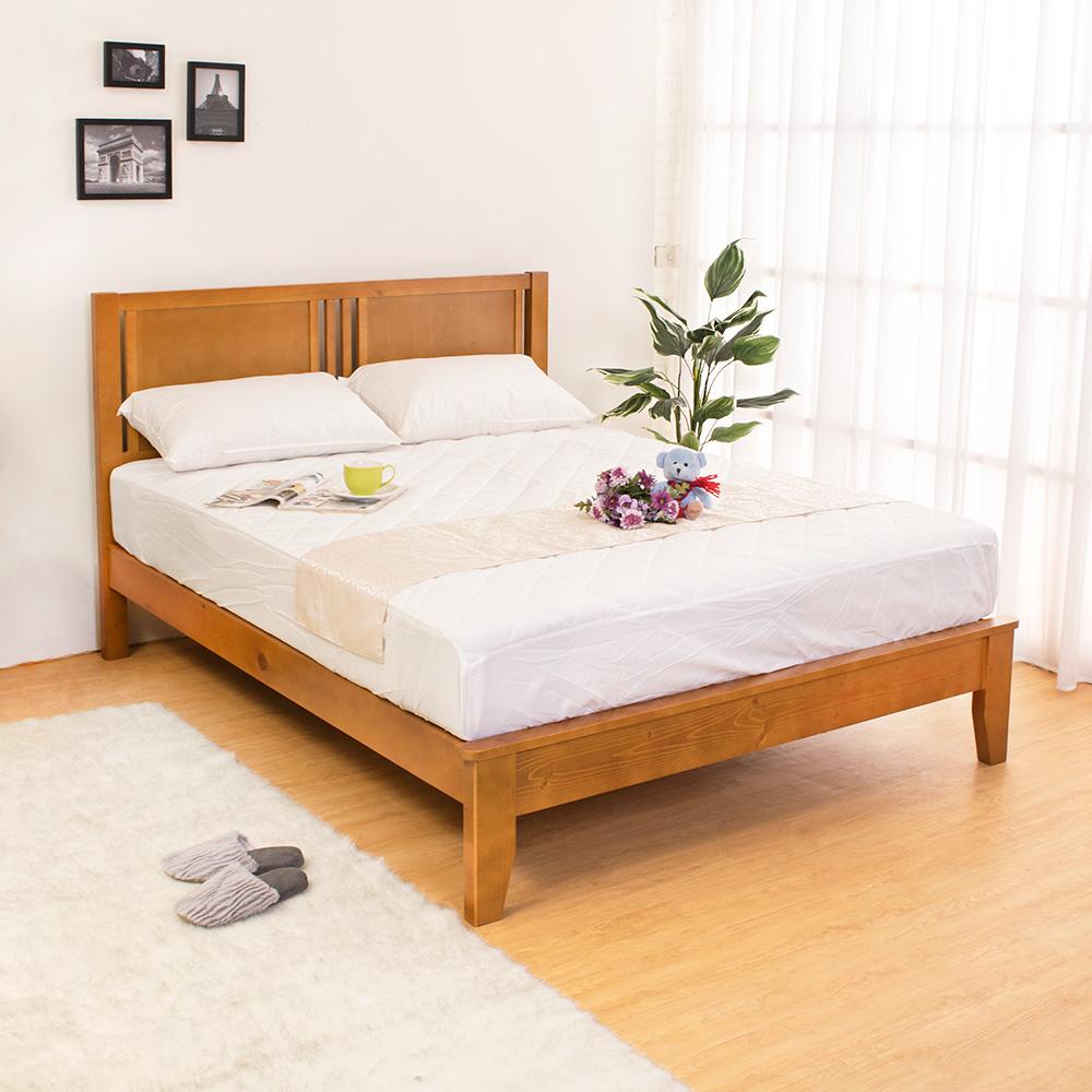 Bernice-蒂琪5尺實木雙人床架