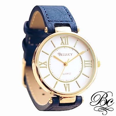 BELLUCY 羅馬假期女錶 (知性藍)