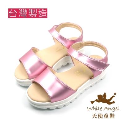 天使童鞋-J839 時尚優雅厚底涼鞋-玫瑰粉