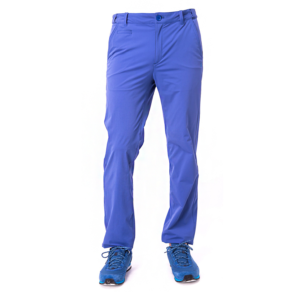 【hilltop山頂鳥】男款抗UV彈性長褲S07MA2-藍