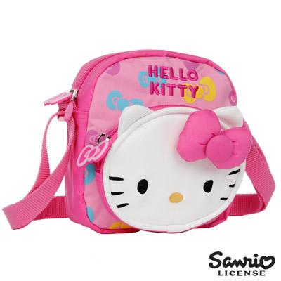 Hello Kitty 彩色派對兒童側背包 M-粉紅 KT00U03PK
