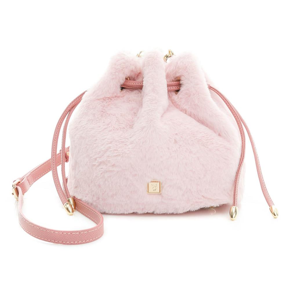 PLAYBOY- 小水桶包 時尚小毛怪系列-甜心粉