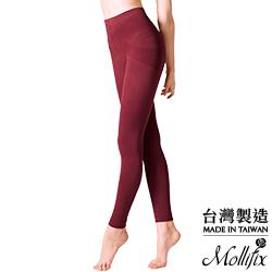 Mollifix 恆溫美型奈米刷毛鉛筆褲(赤赭紅)
