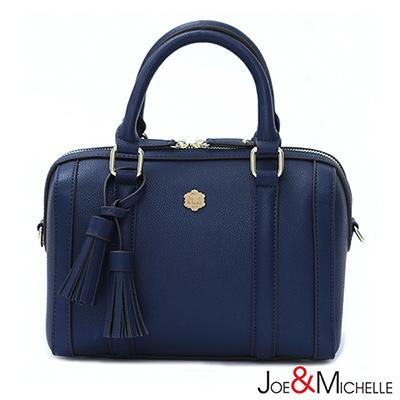 J&M 喬瑟芬流蘇波士頓包 亮靛藍