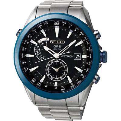 SEIKO ASTRON GPS 太陽能【鈦】限量陶瓷框電波腕錶-47mm